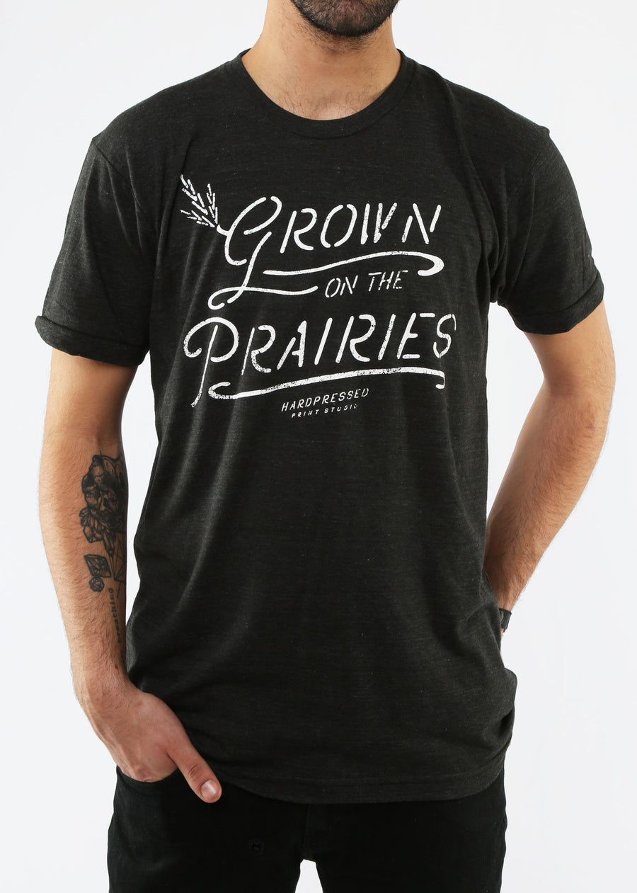 Grown On The Prairies Tee | Tri-black | Unisex and Ladies