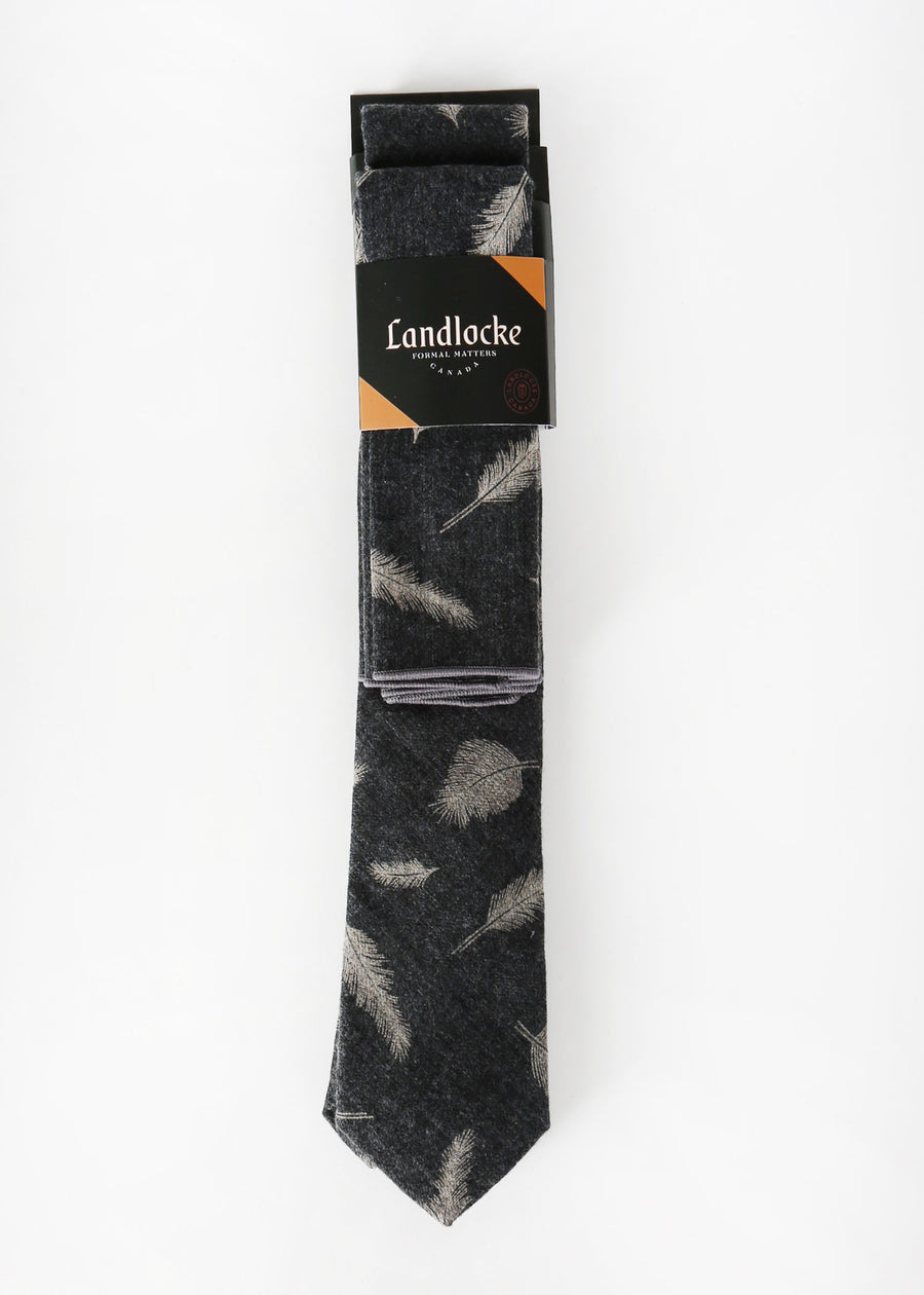 Landlocke - Ascend Tie & Pocket Square, Ties & Pocket Squares, Landlocke Formal Matters, Hardpressed Print Studio