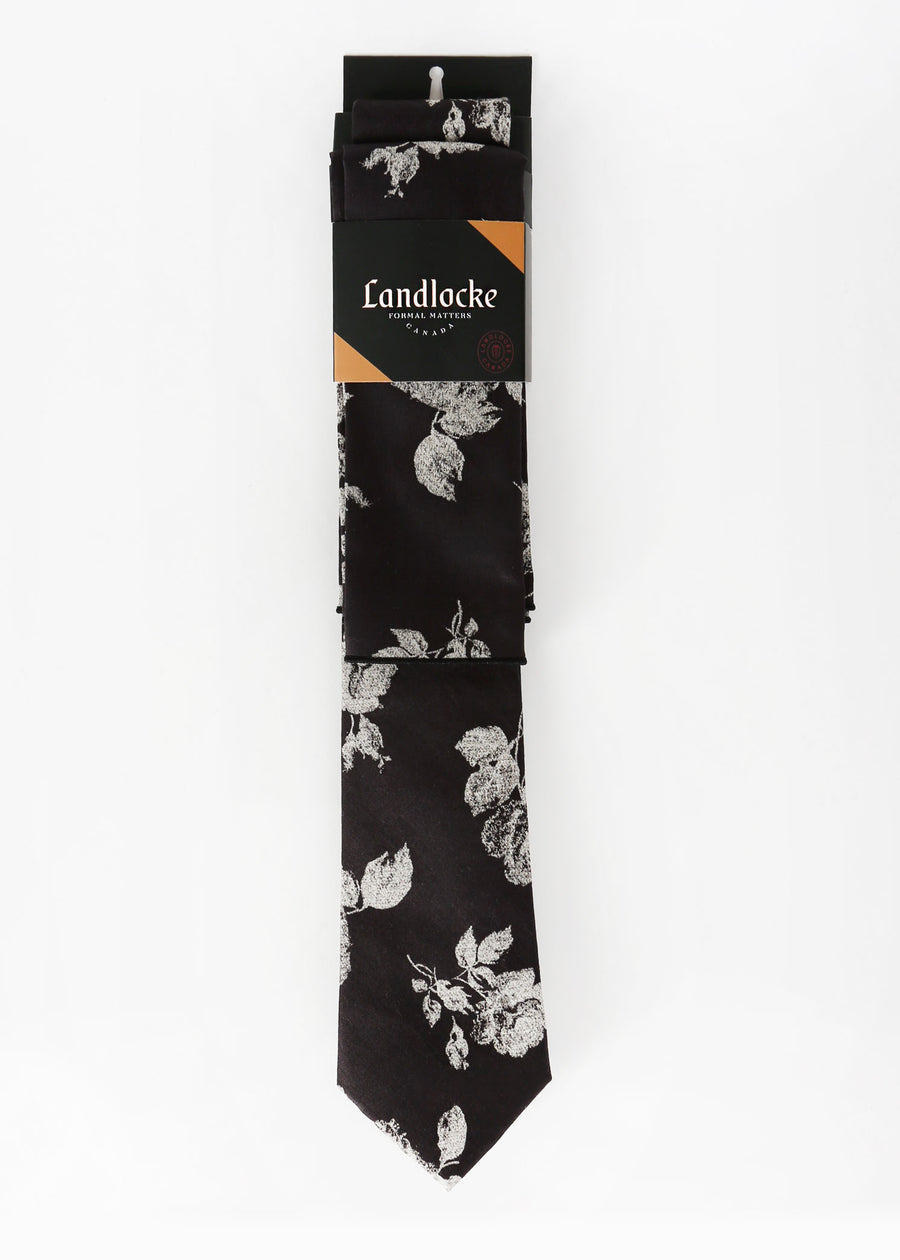 Landlocke - Stone Rose Tie & Pocket Square