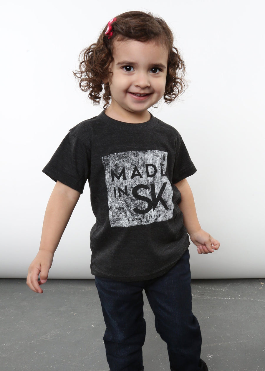 Made in SK Tee v4 | Tri-Black | Kids