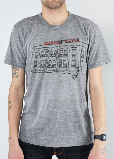 Prince Albert National Hotel Tee | Tri-Grey | Unisex and Ladies