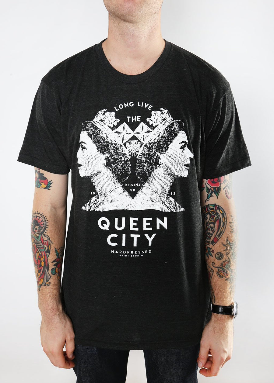Queen City Tee | Tri-Black | Unisex and Ladies - Hardpressed Print Studio