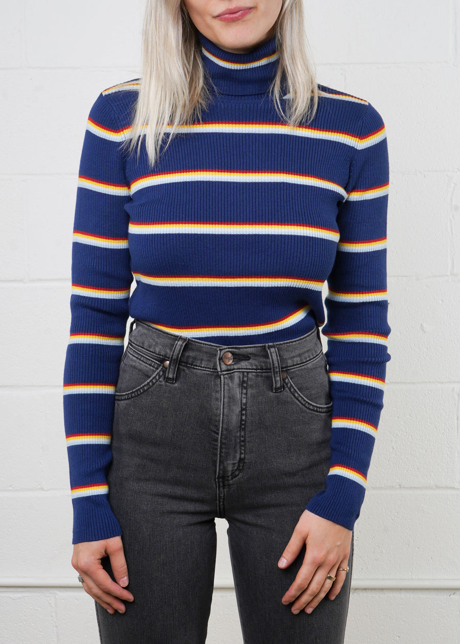 Wrangler - WCKLTNB Turtle Neck - Blue Depths