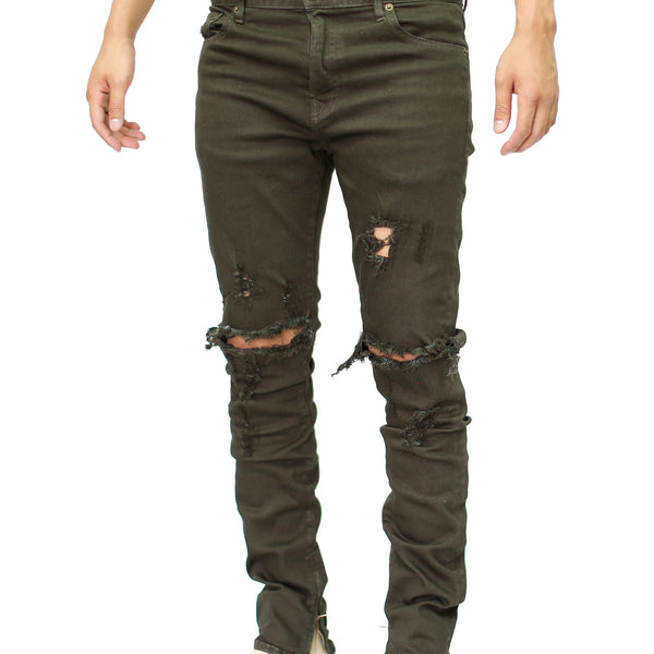 THE RAW OLIVE DENIM