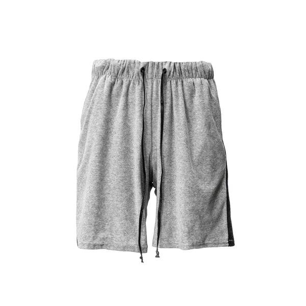 THE GREY RETRO VELOUR SHORTS