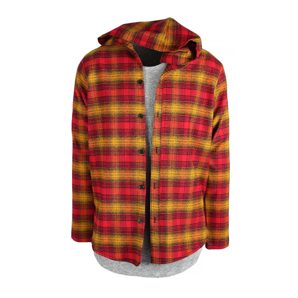 THE REDWOOD BRUSH PLAID SHIRT - HOOD