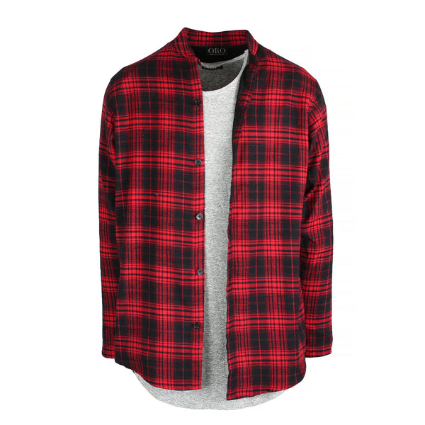 THE BUFFALO BRUSHED PLAID SHIRT - ORO Los Angeles - 1