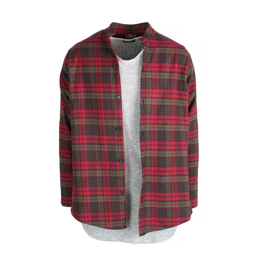 THE CRIMSON BRUSH PLAID SHIRT - ORO Los Angeles