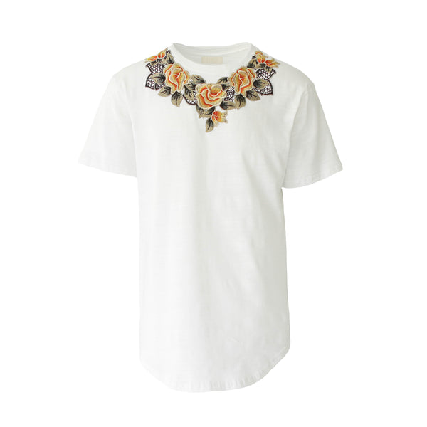 THE WHITE ESSENTIAL FLORAL TEE