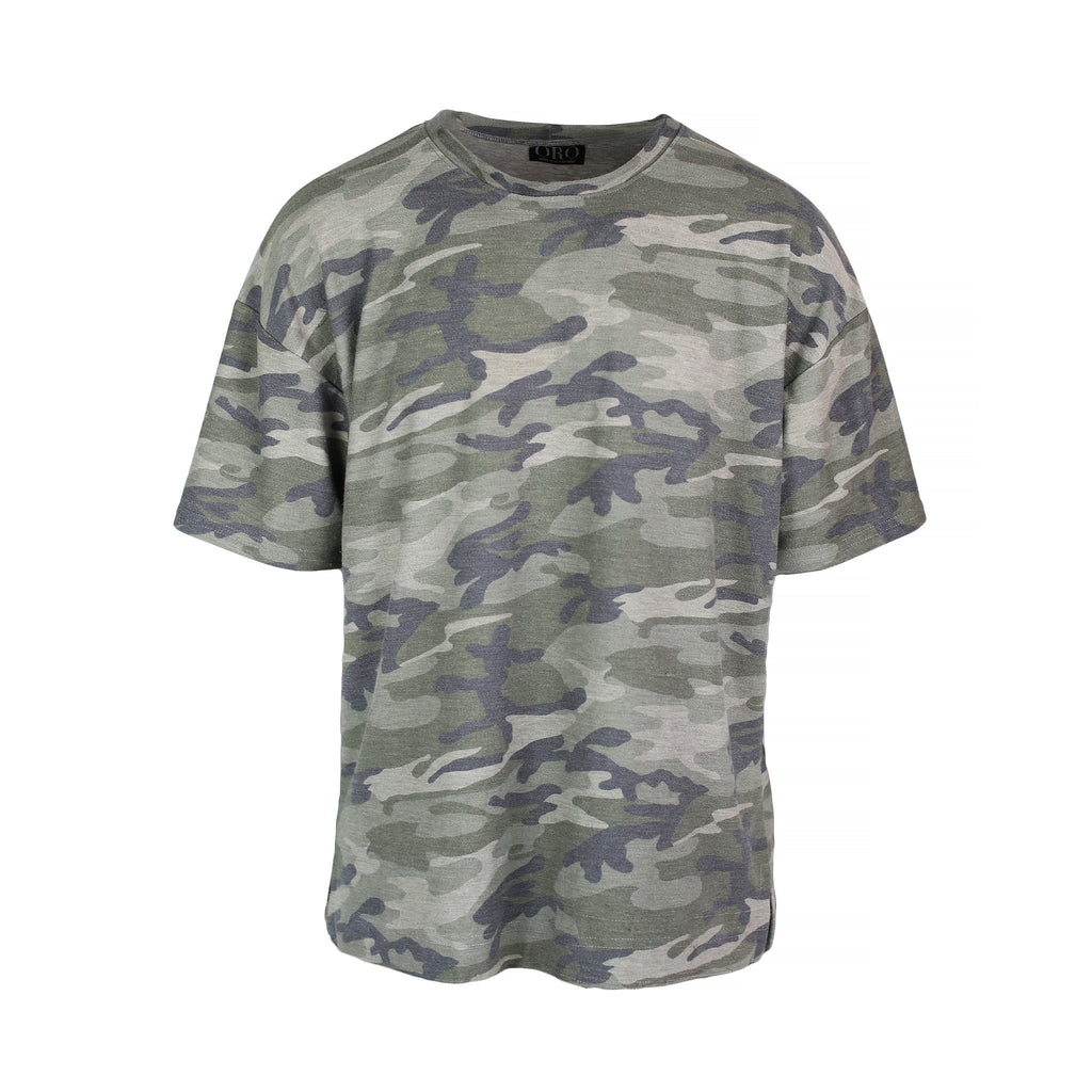 THE DROP SHOULDER TEE - TERRY CAMO - ORO Los Angeles