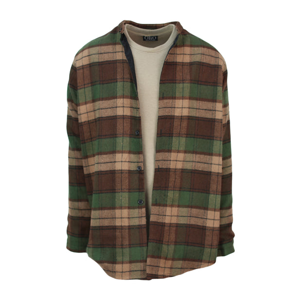 THE WOODLAND WOOL PLAID SHIRT - ORO Los Angeles