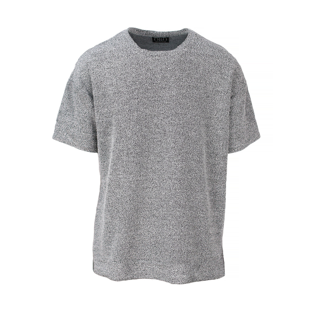 THE BOUCLE DROP SHOULDER TEE - ORO Los Angeles