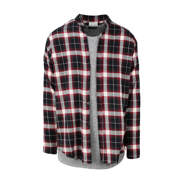 THE RUSTIC FRAYED PLAID SHIRT - ORO Los Angeles