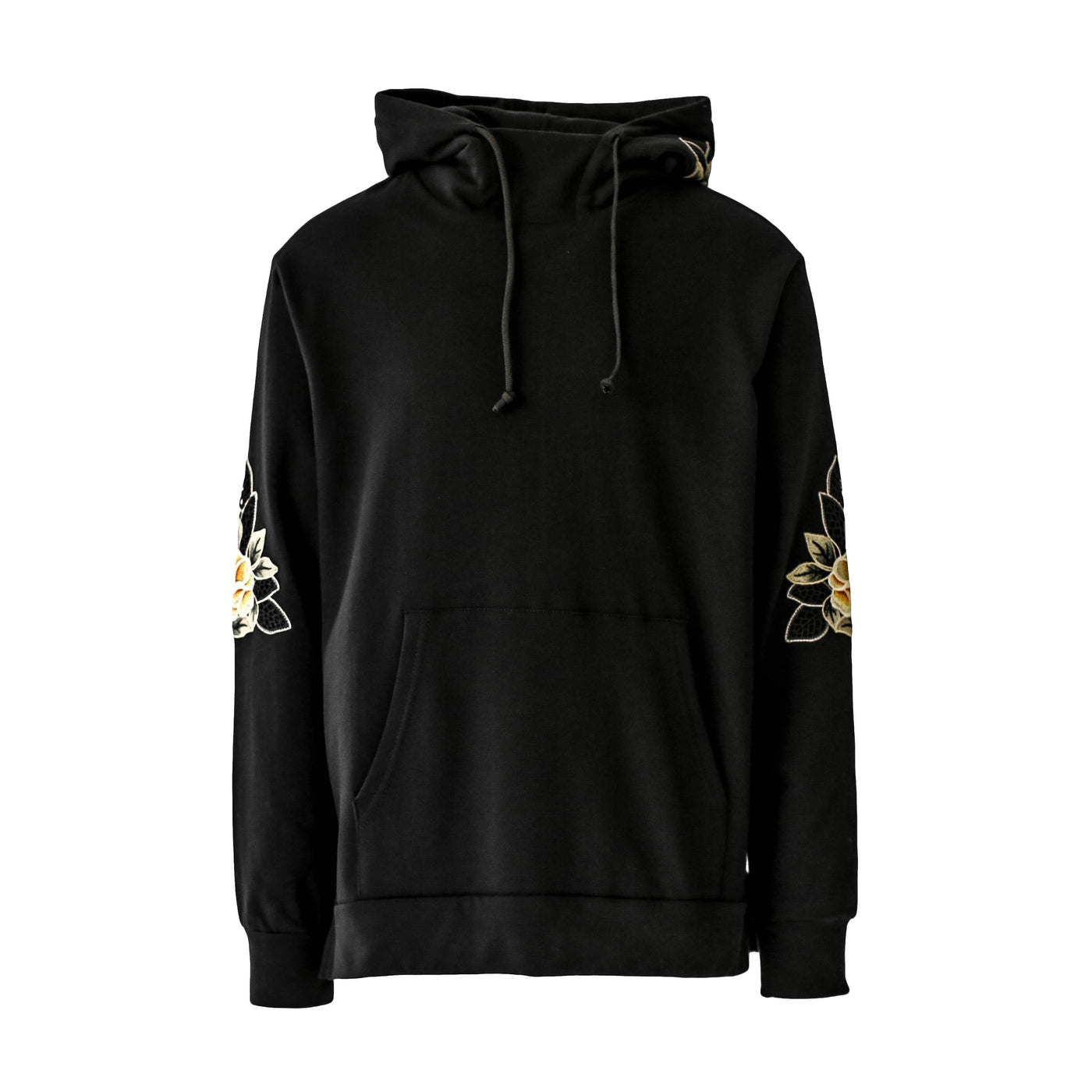 THE BLACK FLORAL LUXE HOODIE