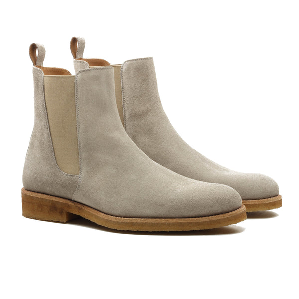 THE CHAMPAGNE CREPE CHELSEA BOOTS