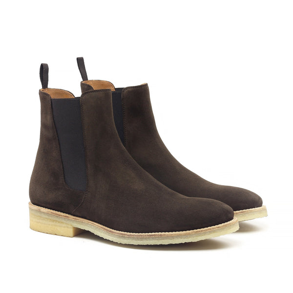 THE CIGAR CREPE CHELSEA BOOTS