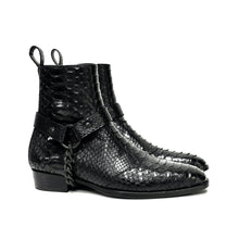 THE GINZA PYTHON HARNESS BOOTS