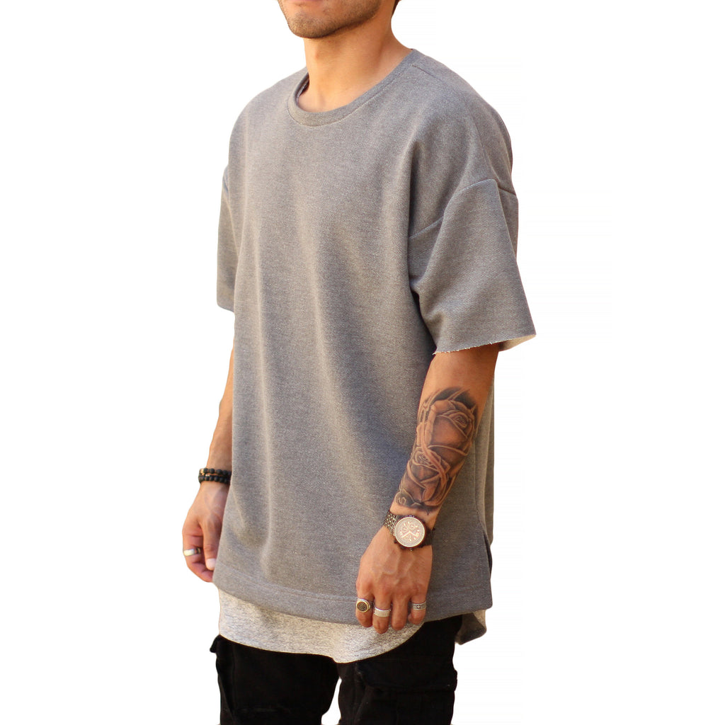 THE CHARCOAL DROP SHOULDER TEE