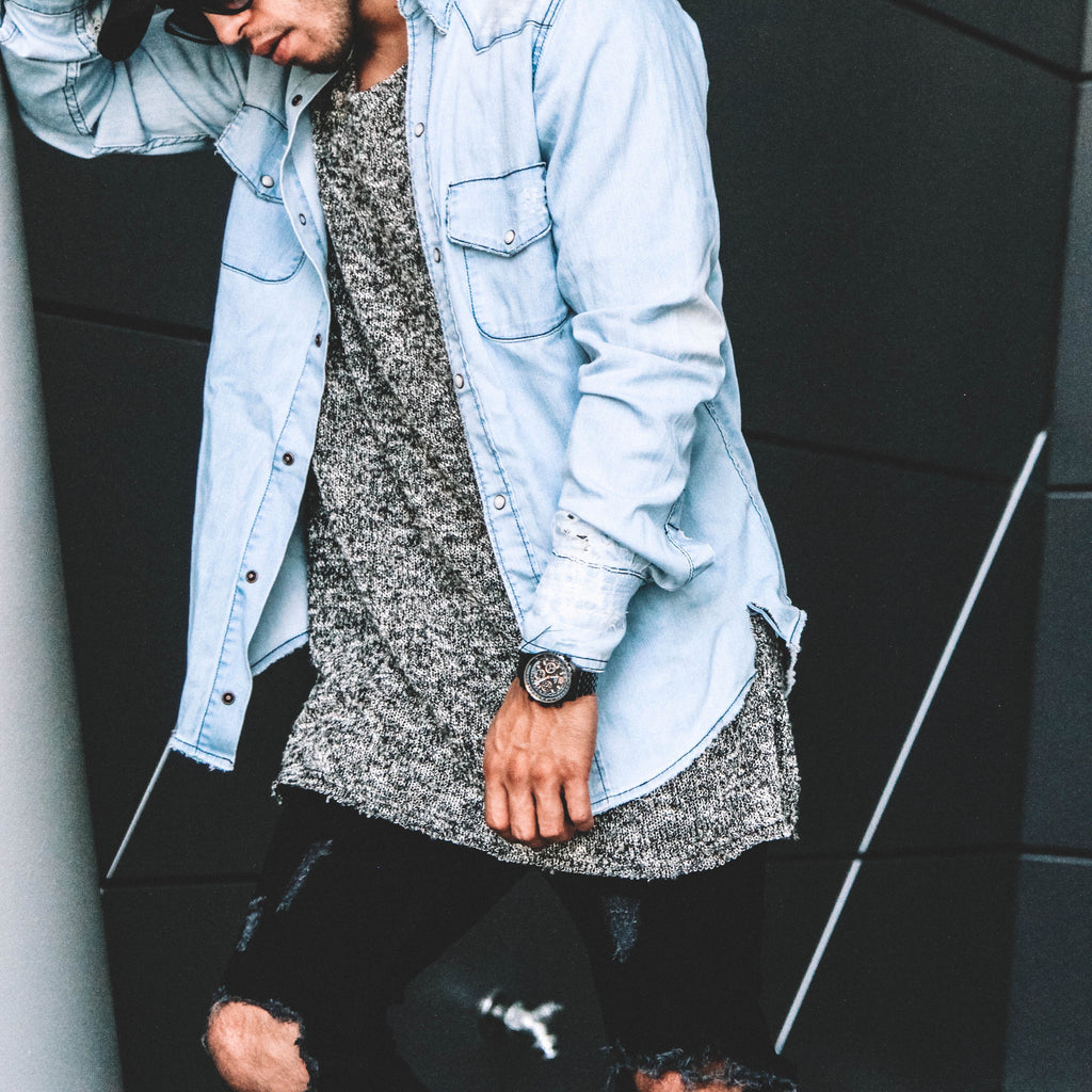 THE DISTRESSED DENIM SHIRT
