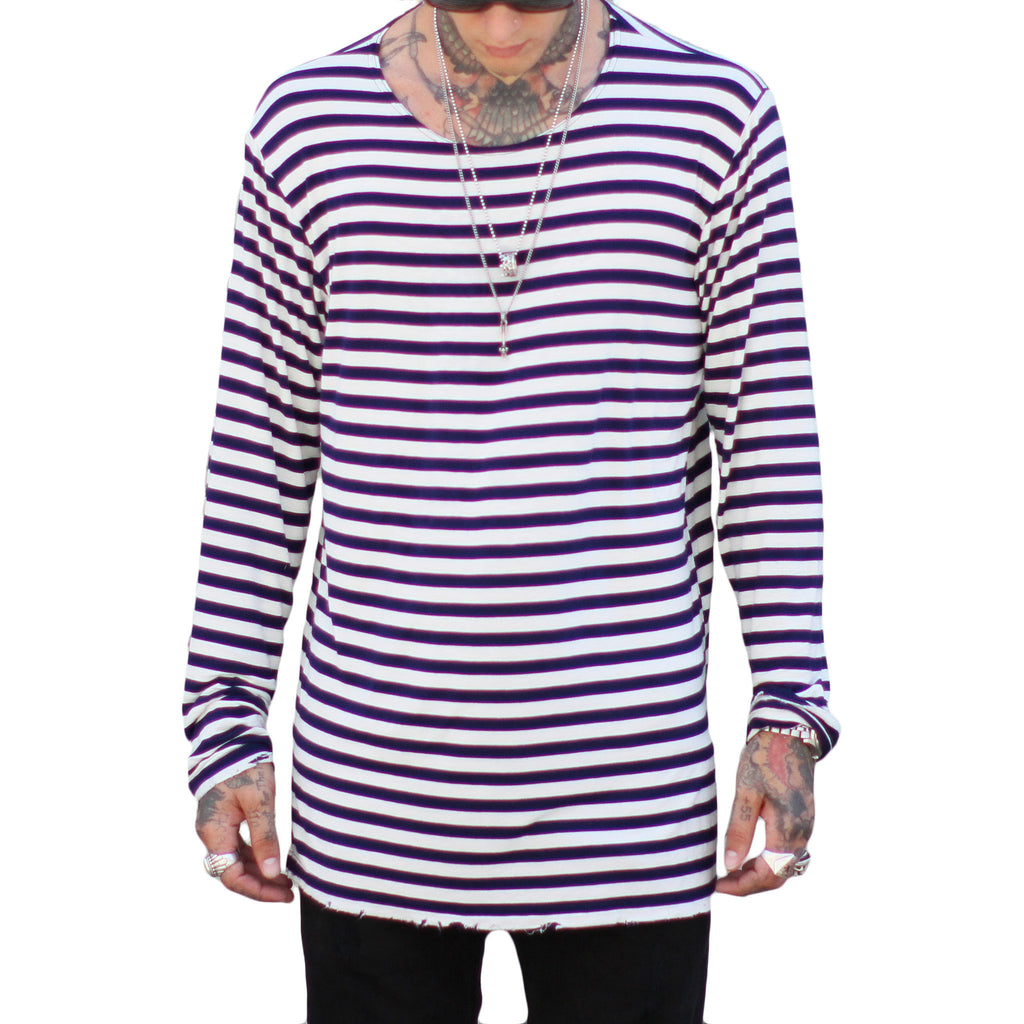 THE L/S STRIPE TEE