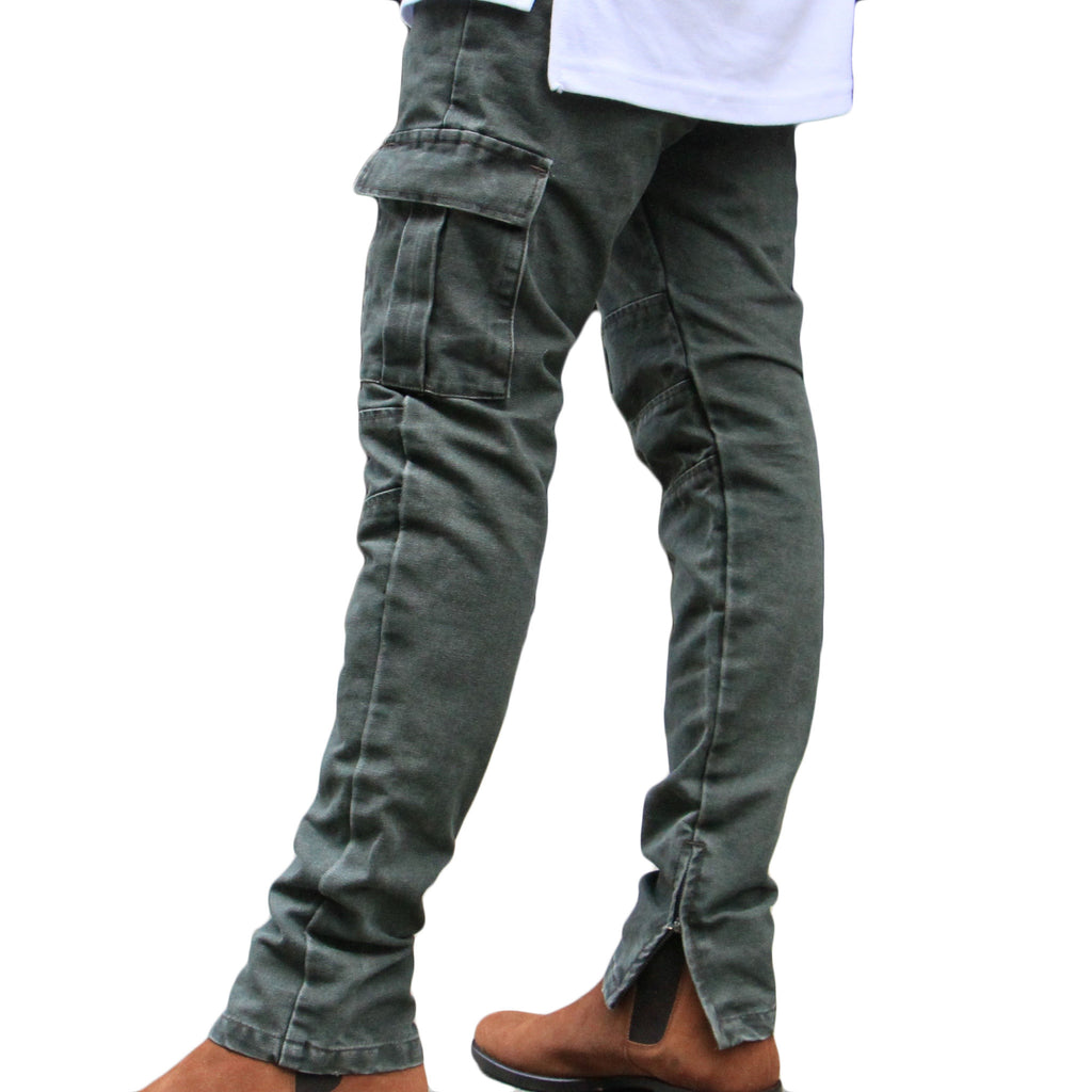 THE OLIVE CARGO PANTS - ORO Los Angeles - 1