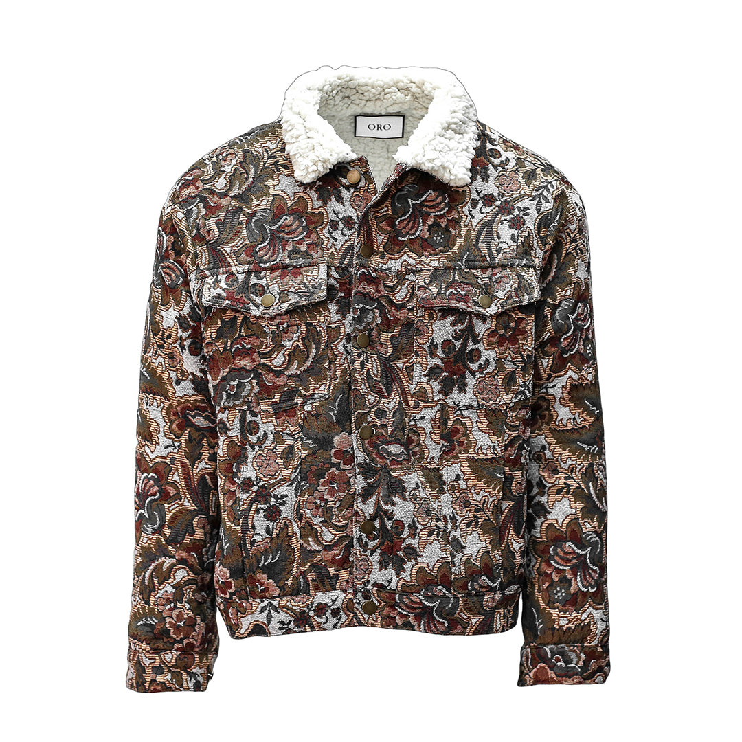 THE JACQUARD FLORAL JACKET