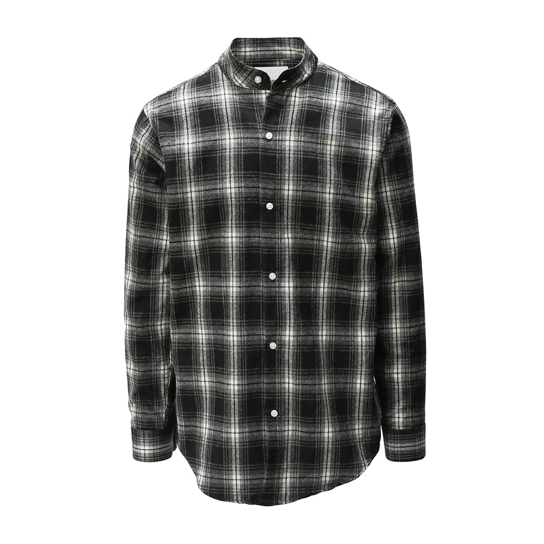 the noir brush plaid shirt oro los angeles. Black Bedroom Furniture Sets. Home Design Ideas
