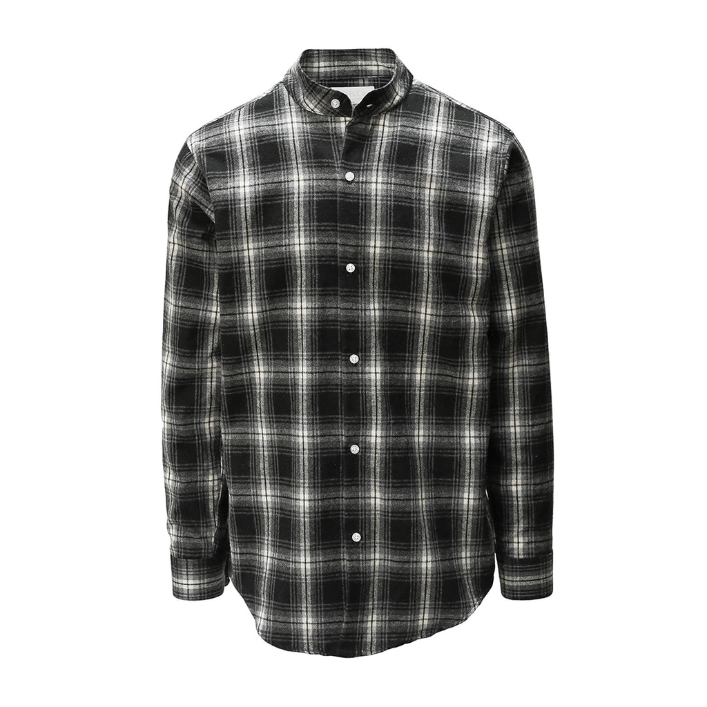 THE NOIR BRUSH PLAID SHIRT