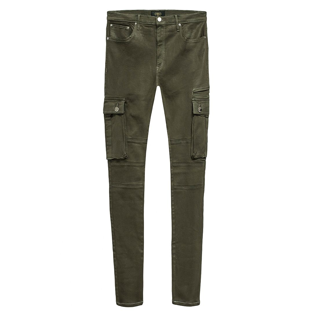 THE OLIVE DENIM CARGO