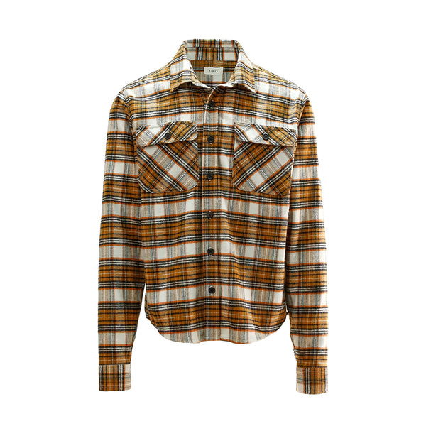 THE RICK BRUSH CROPPED PLAID SHIRT