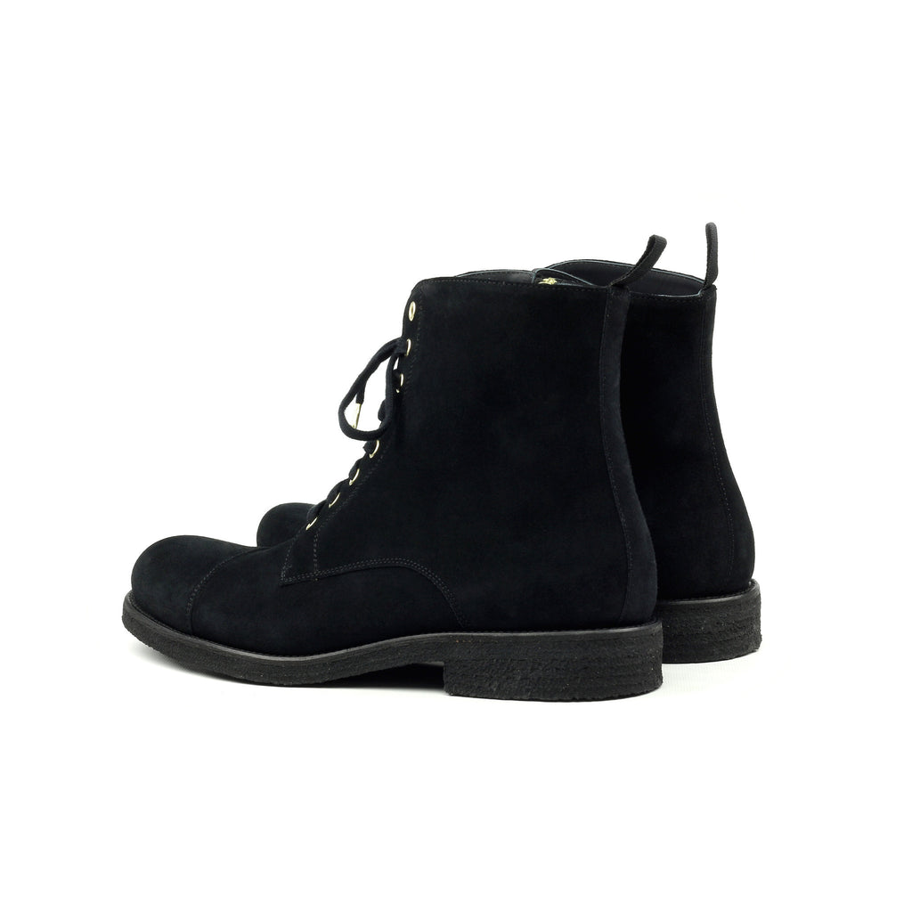 THE BLACK CREPE COMBAT BOOTS