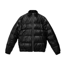 THE OLA LEATHER PUFFER JACKET