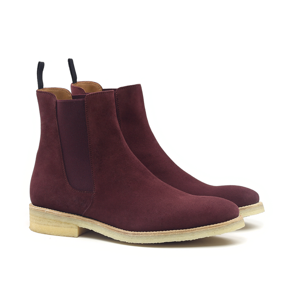 THE WINE CREPE CHELSEA BOOTS