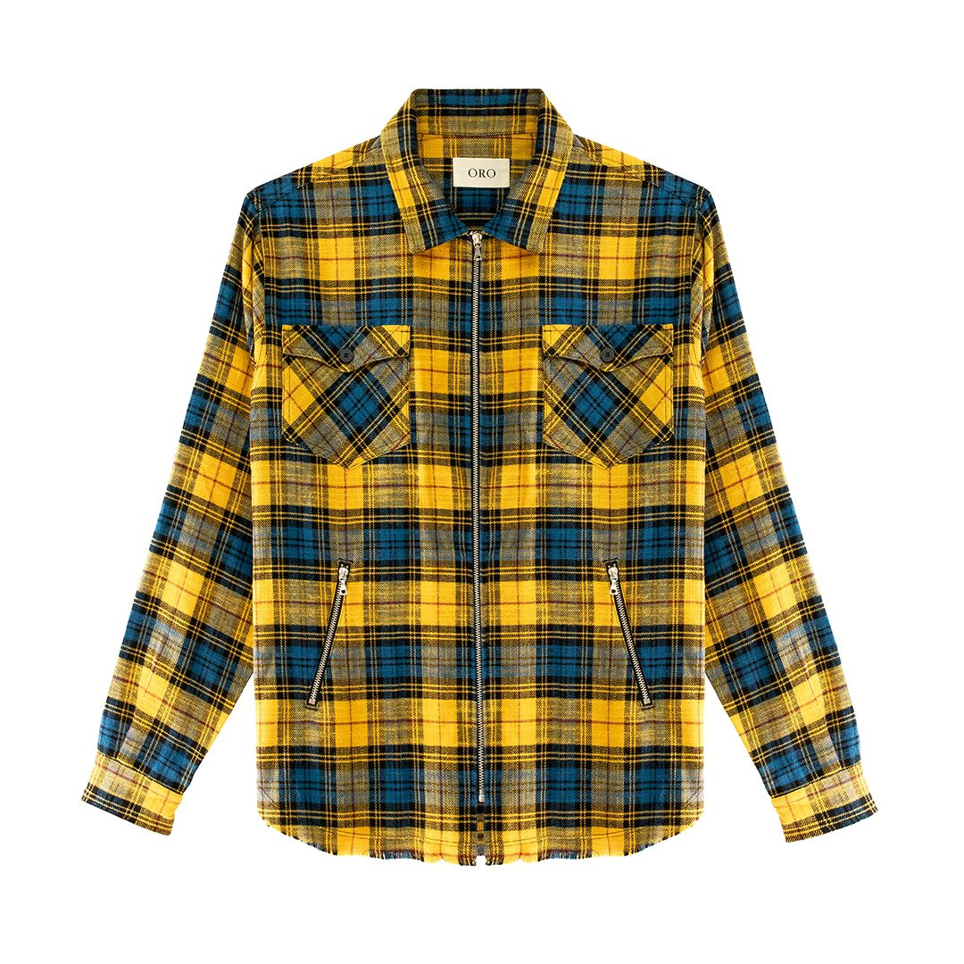 THE AMAN ZIPPER PLAID SHIRT