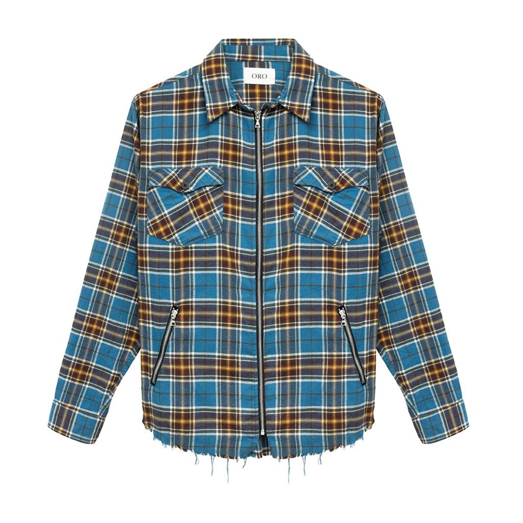 THE ARAGO ZIPPER PLAID SHIRT