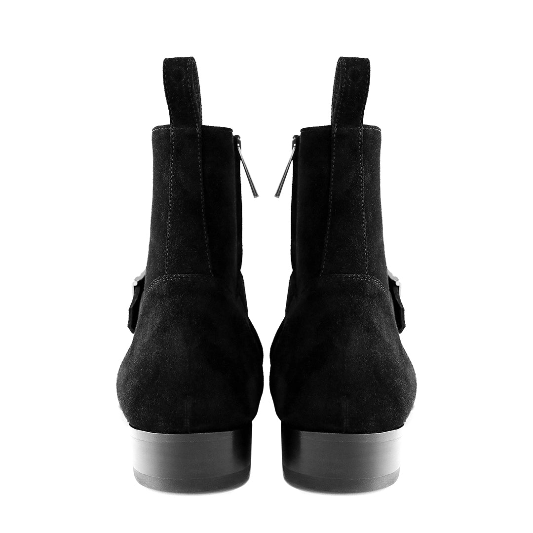 THE BLACK MADRID STRAP BOOTS
