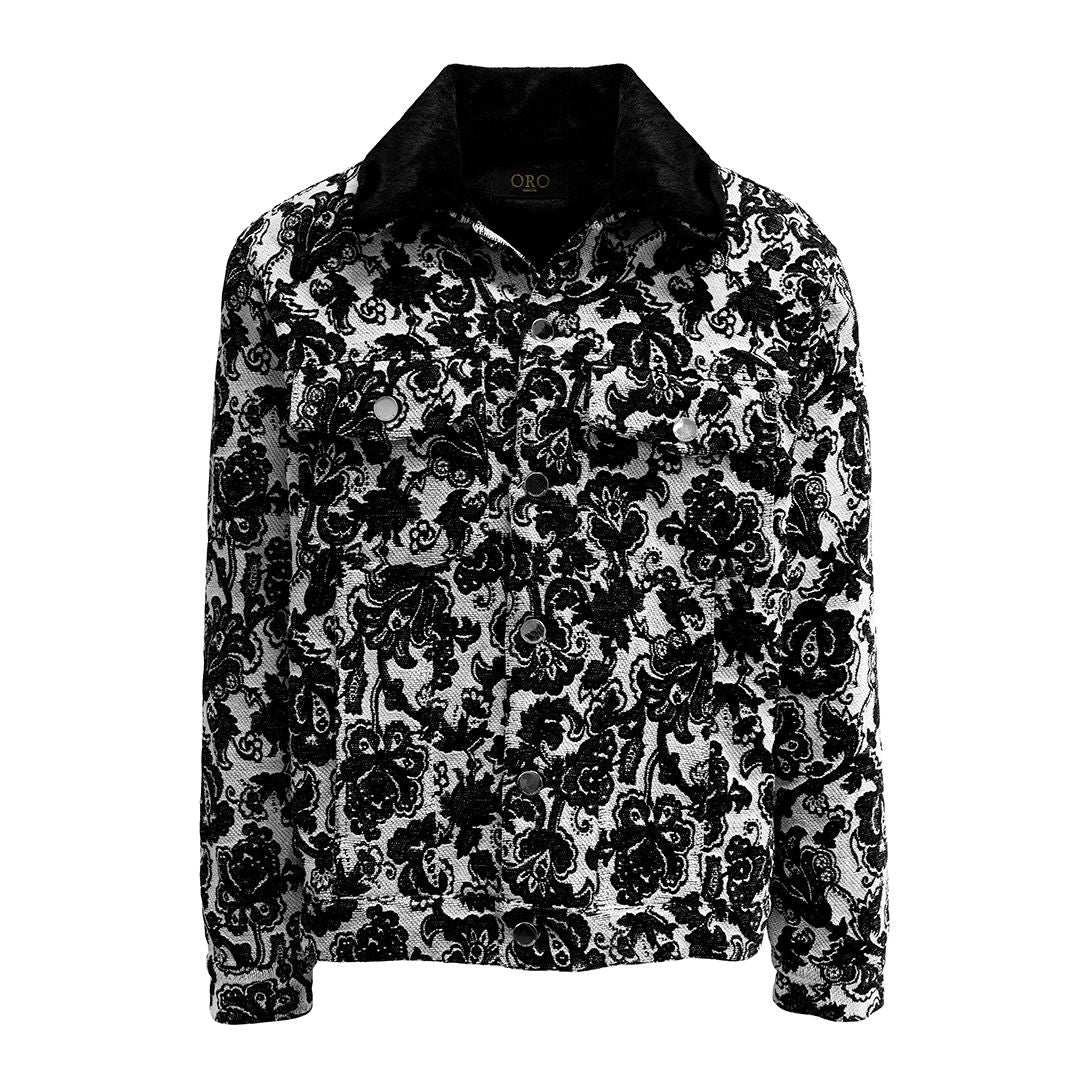 THE BELLA JACQUARD FLORAL JACKET