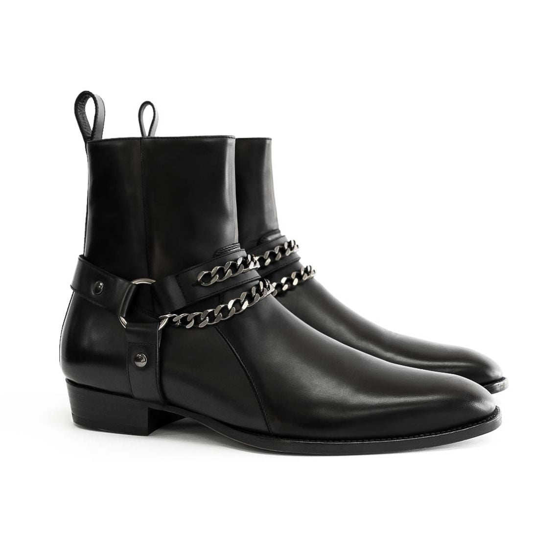 THE LEATHER HENRIK HARNESS BOOTS