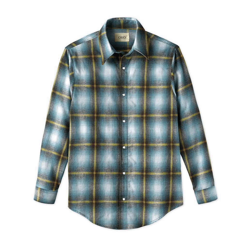 THE AZUL CAVA BRUSH PLAID SHIRT