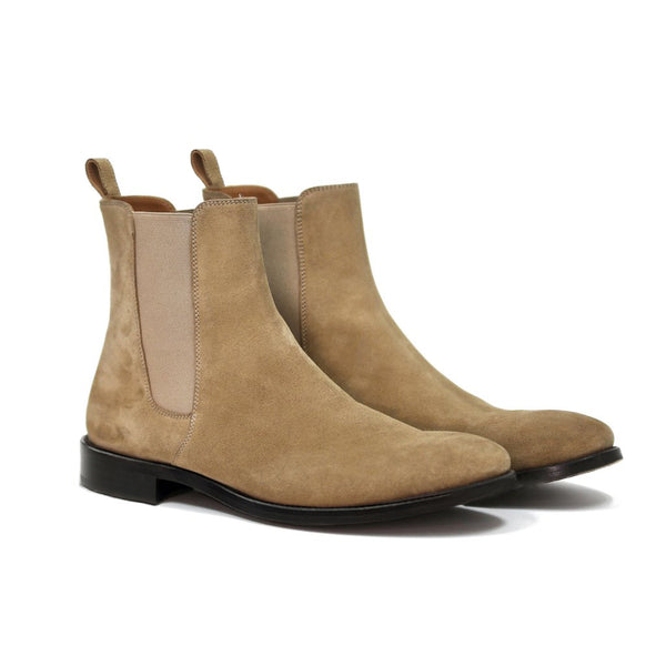 THE LONDON TAUPE CHELSEA BOOTS