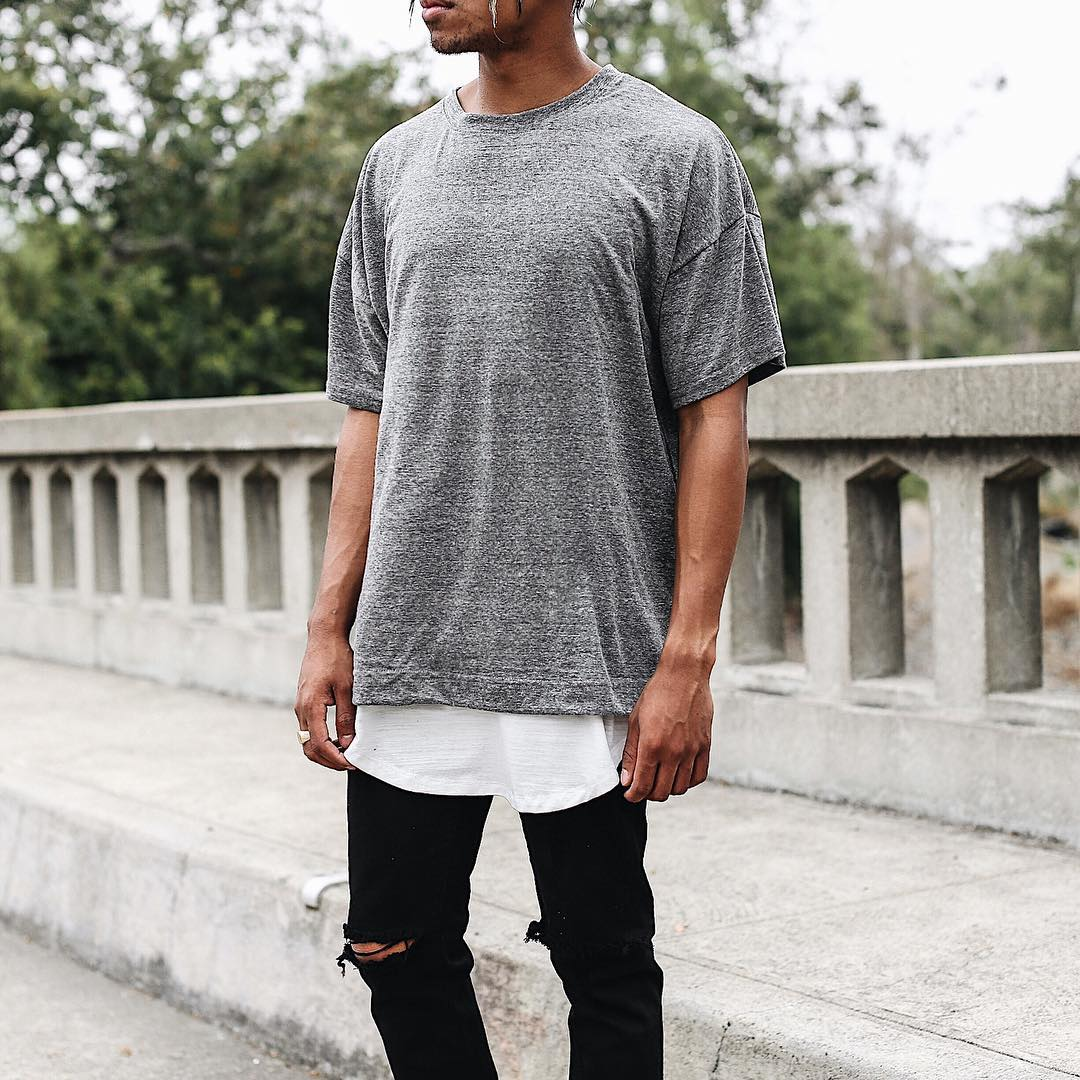 THE TRIBLEND DROP SHOULDER TEE