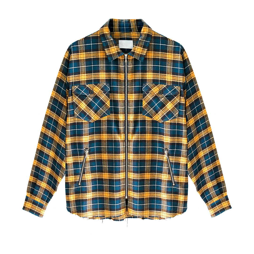 THE PLAFOND ZIPPER PLAID SHIRT