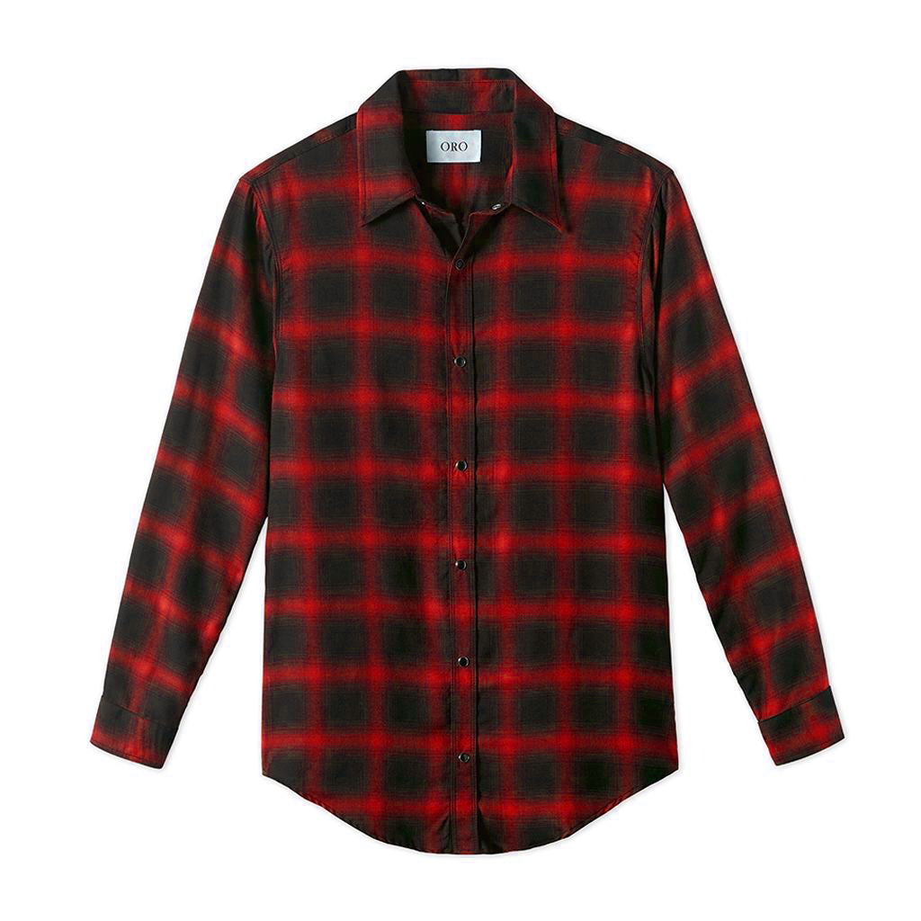 The Red Leon Plaid Shirt by Oro