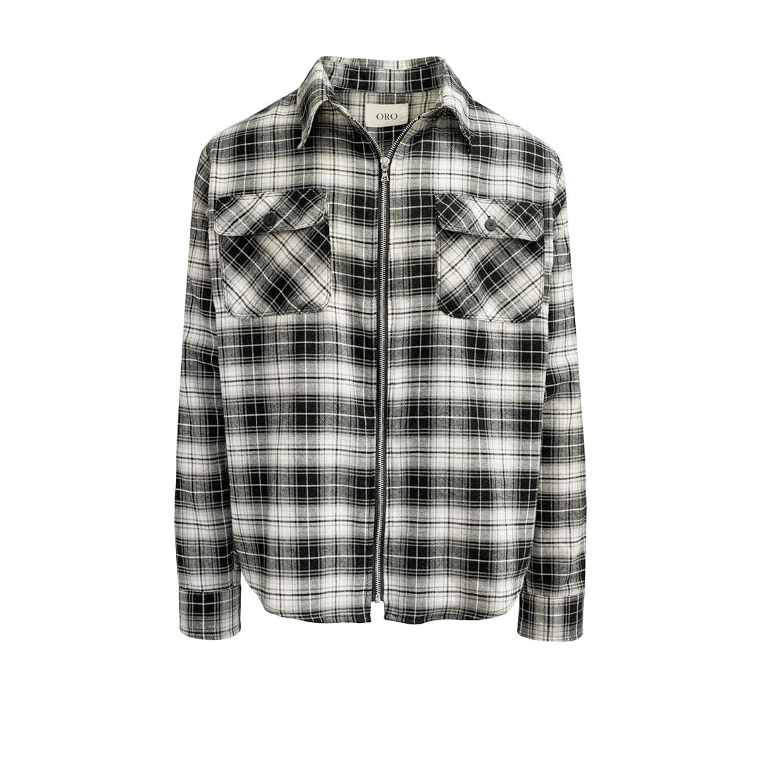 THE SHADOW ZIPPER PLAID SHIRT
