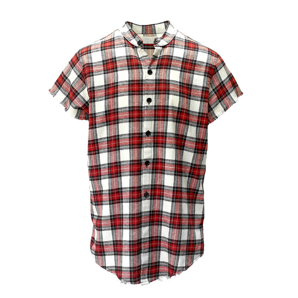 S/S HARVARD PLAID CUTOFF