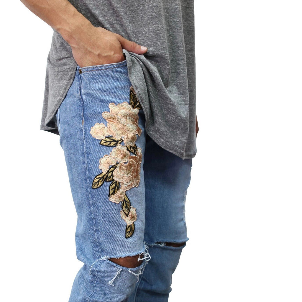 THE INDIGO EVERYDAY DENIM - FLORAL