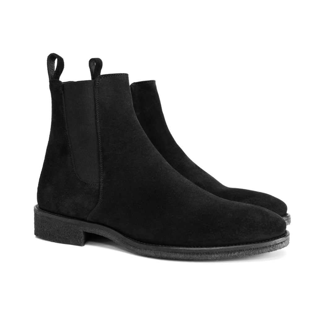 The Xavier Crepe Chelsea Boots by Oro