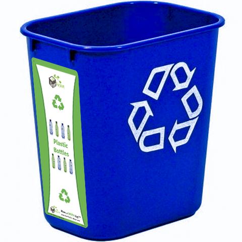 7 Gallon Deskside Recycling Container With Label - My Green Purpose