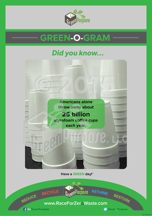 Green-O-Gram ™ Recycling Education Poster With Styrofoam Recycling Facts - My Green Purpose