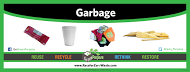 "Recycling Label Sticker (12""x4.5"") - My Green Purpose"